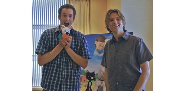 『ボルト』の生みの親、クリス・ウィリアムズ監督(左)&バイロン・ハワード監督(右)