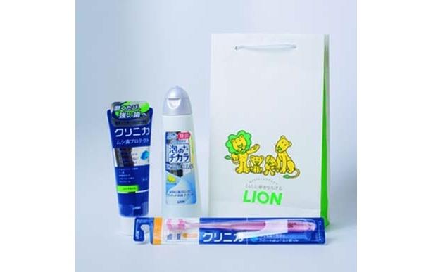 おみやげには実用派にうれしい歯磨き粉&歯ブラシセット(ライオン)
