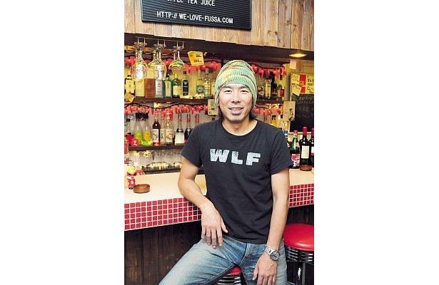 「WLF CAFE」の店長。祭りの日は外で屋台も!