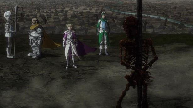 アニメ「ベルセルク」第7話の場面カットが到着。キャンプに到着したガッツの手はキャスカに届くのか
