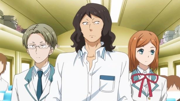 TVアニメ「はんだくん」第8話先行カットが到着。フォロワー1万人の男が半田くんに接近!