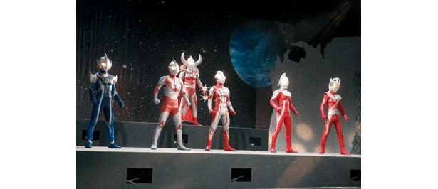 ライブステージではウルトラ兄弟が大活躍!