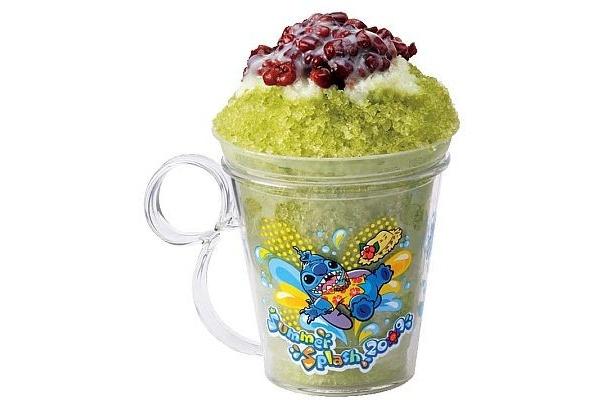 シェイブアイス(抹茶あずきミルク)、スーベニアカップ付き(¥550)は東京ディズニーランドのラッキーナゲット・カフェと、ザ・ガゼーボで買える