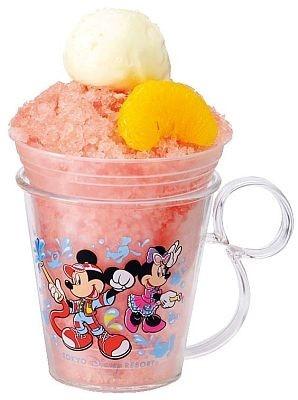 シェイブアイス(レッドオレンジ)、スーベニアカップ付き(¥550)は東京ディズニーシーのゴンドリエ・スナックで販売