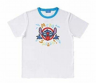Tシャツ S・M・L (各\2300)。胸にデザインされたスティッチをアピールして、水をかけてもらおう