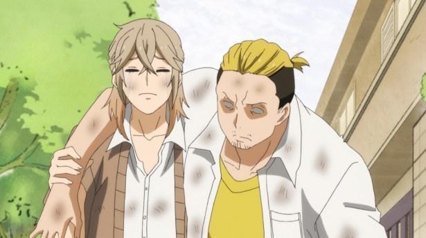TVアニメ「はんだくん」第9話先行カットが到着。半田をストーカーから守れ!