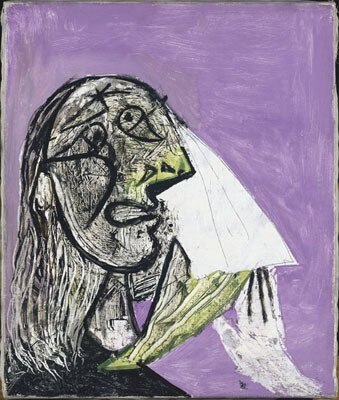 《泣く女》 1937年(C)2008-Succession Pablo Picasso-SPDA〔JAPAN〕(C)Photo RMN-(C)Jean-Gilles Berizzi/distributed by DNPAC 国立新美術館にて展示