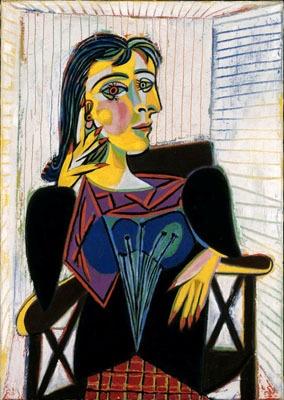 《ドラ・マールの肖像》 1937年(C)2008-Succession Pablo Picasso-SPDA〔JAPAN〕(C)Photo RMN-(C)Jean-Gilles Berizzi/distributed by DNPAC 国立新美術館にて展示