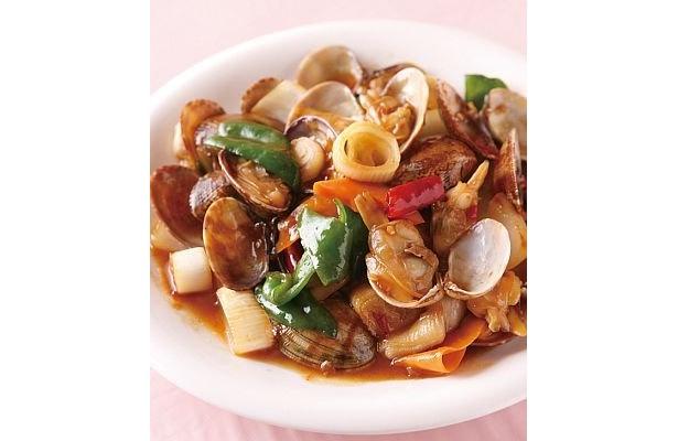 【3辛】しっかりと身の詰まった大粒のアサリを使った福楼の「アサリの辛み炒め」