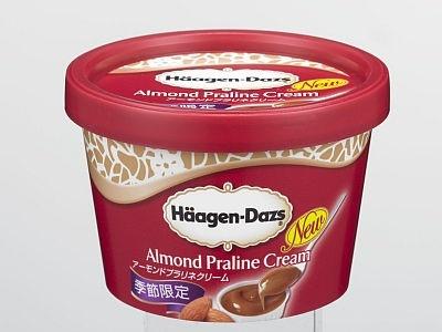 「ハーゲンダッツ アイスクリーム ミニカップ『アーモンドプラリネクリーム』」も季節限定で9/14(月)に発売(284円)