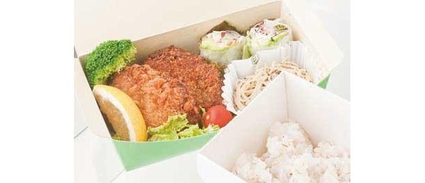 「トンソクコロッケ弁当」は細かくカットされた豚足がイン(500円/vivivavi)