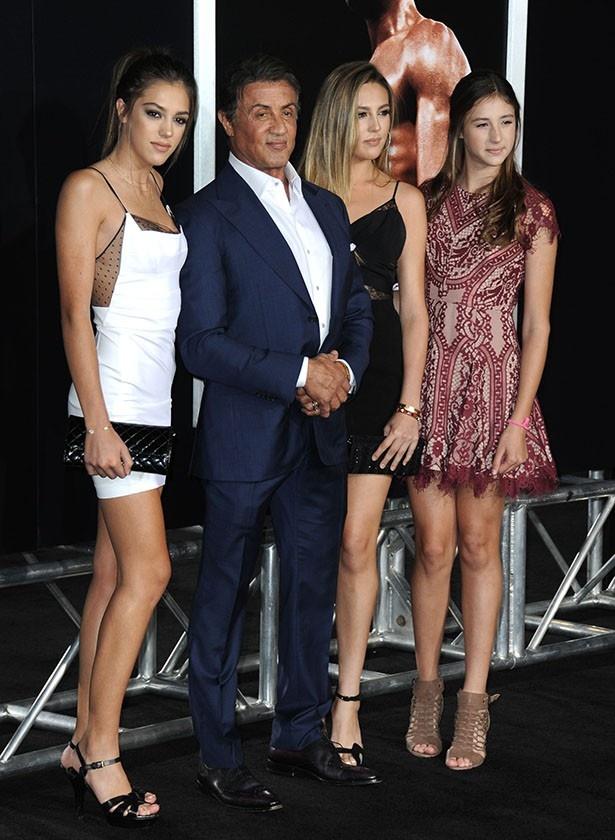スタローンと美しすぎる3人の娘たち