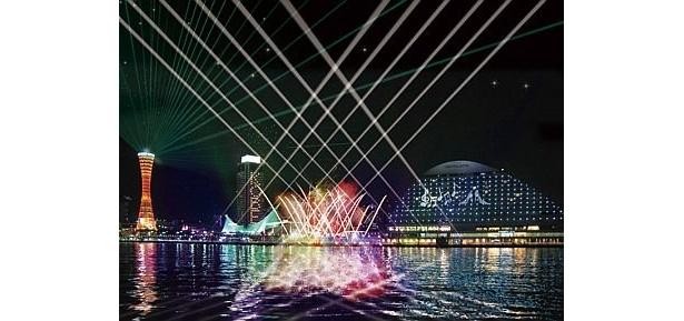 今年初めて神戸港で開催している「神戸スウィング・オブ・ライツ」