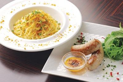 ばーるTERUの「カラスミと白葱のパスタ」