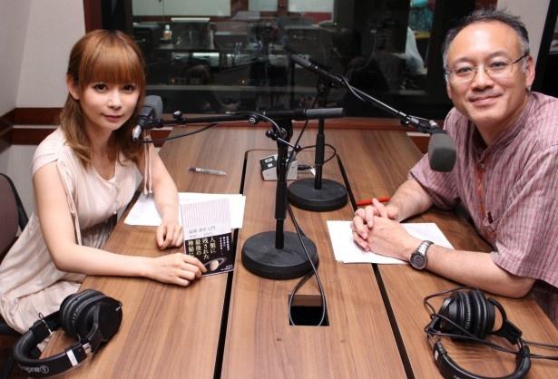 中川翔子(左)と渡部潤一氏