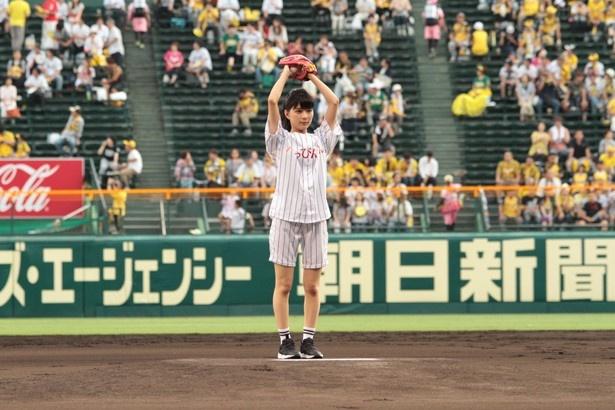 9月6日に開催された甲子園球場(阪神対巨人)でファーストピッチセレモニーを行った