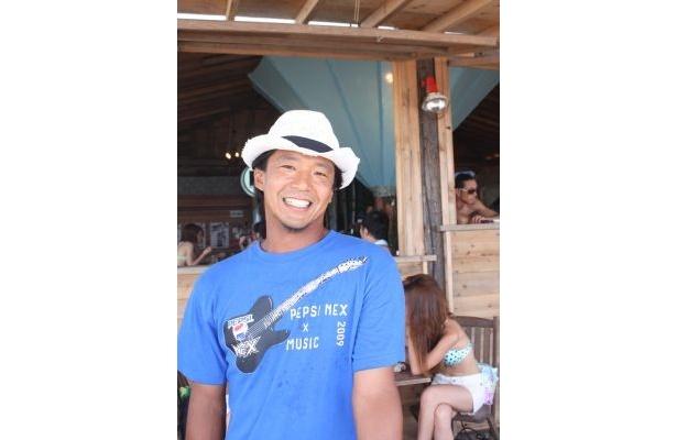 「PEPSI NEX Beach Party with MTV」のなおさん。趣味はサーフィン