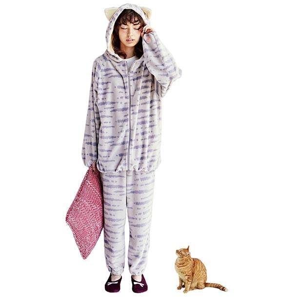 「もふもふに包まれる しましま猫の耳付きルームパーカーの会」特別価格 月1枚3650円(税抜)