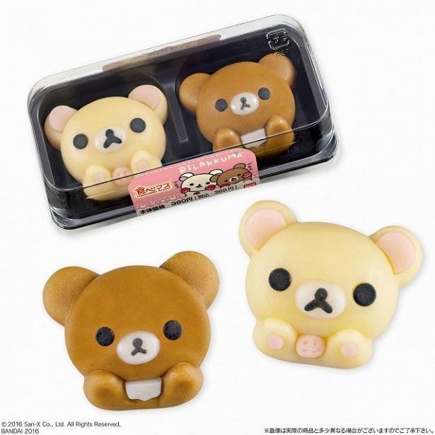 【写真を見る】和菓子でコリラックマとチャイロイコグマを再現。かわいすぎて食べるのを躊躇してしまいそう!