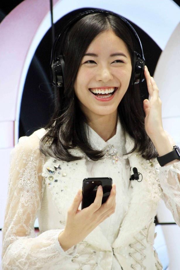 iPhone7でハッピーランキングが聴いた松井は「踊りたくなっちゃう」