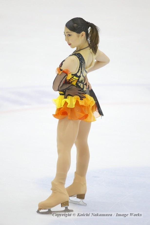 中塩美悠、ショートプログラムの演技