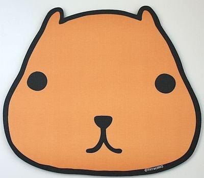 キデイランド限定、カピバラさんマウスパッドは光学式対応。 東京駅・原宿店・松本店・大阪梅田店の限定商品