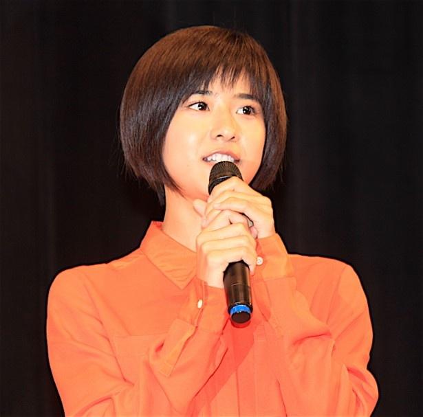 『オケ老人!』完成披露試写会に登壇した黒島結菜