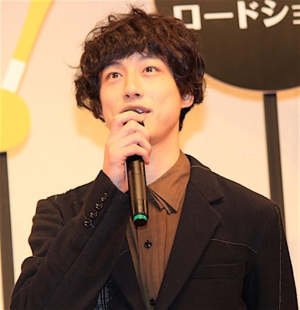 『オケ老人!』完成披露試写会に登壇した坂口健太郎