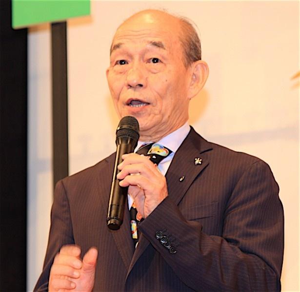 『オケ老人!』完成披露試写会に登壇した笹野高史