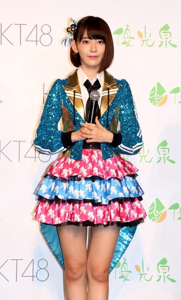 「HKT48がスラッとしたメンバーになれるよう、みんなで(断食を)やりたい」と宮脇