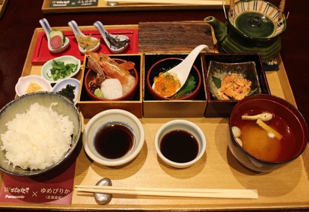 「北海道産ゆめぴりかと海の幸御膳」(1720円)は、10月3日(月)から9日(日)まで販売