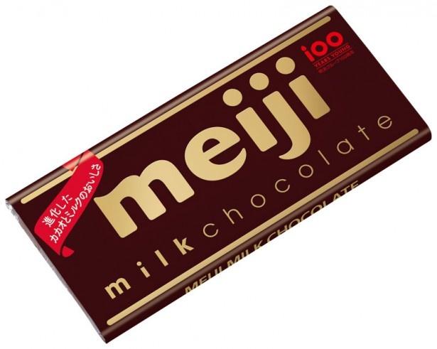 今年で発売90周年を迎える「明治ミルクチョコレート」