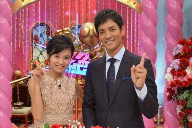 「想像を絶するテレビ」でMCを務める沢村一樹(右)、小島瑠璃子(左)