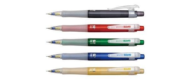 ストレスゼロ!芯が折れないシャープペンシル「オ・レーヌ」は5色展開(210円/MOL-200)