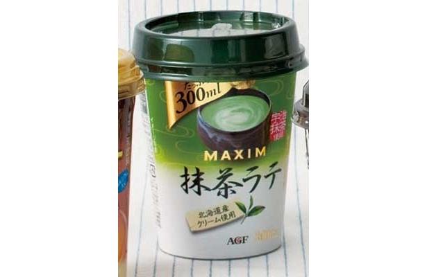 「MAXIM 抹茶ラテ」(AGF/¥198/192kcal/300ml)コクもあるし抹茶の上品な味もする。素材のよさを感じるよ(峯尾さん)