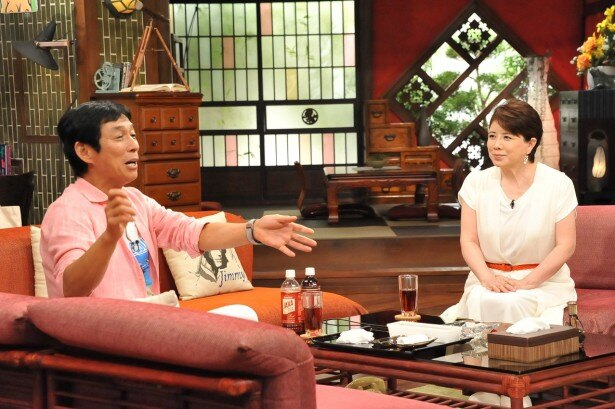 「さんまのまんま」に森昌子(右)が登場