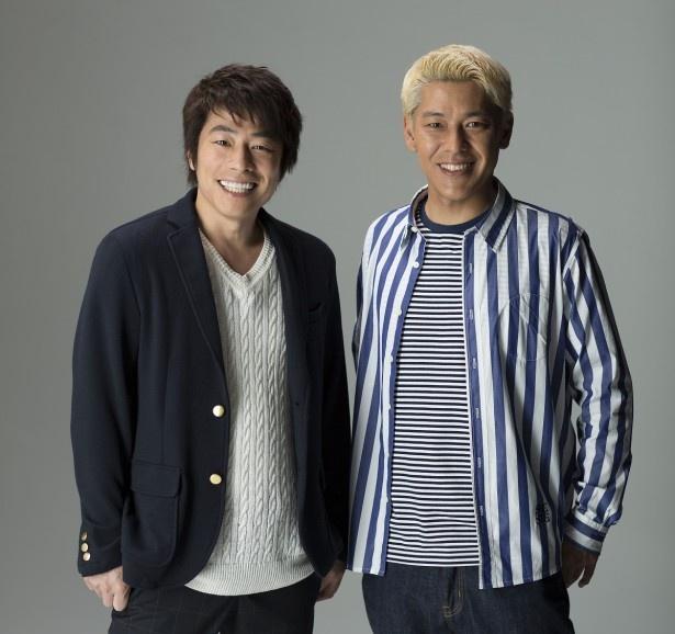 TBS系で日曜に放送される「クイズ☆スター名鑑」に出演するロンドンブーツ1号2号