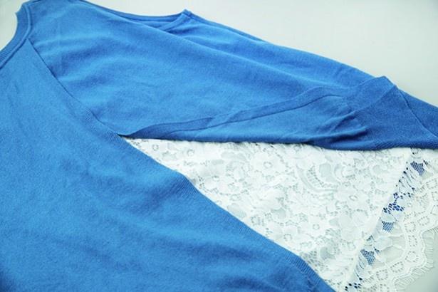 アクリル、綿、ナイロンなど4種類の素材が組み合わさった衣類。洗剤選びはいちばん弱い素材に合わせて