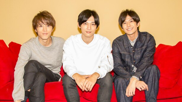 「男子旅」の取材会に出席した松島庄汰、吉沢亮、吉村卓也(写真左から)