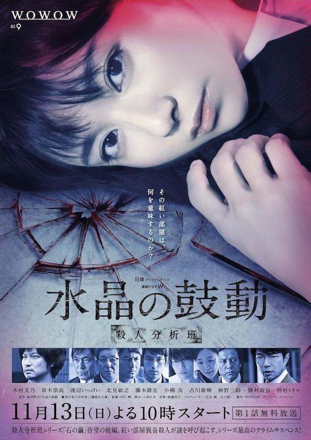 木村文乃主演の「連続ドラマW 水晶の鼓動 殺人分析班」は、11月13日(日)スタート