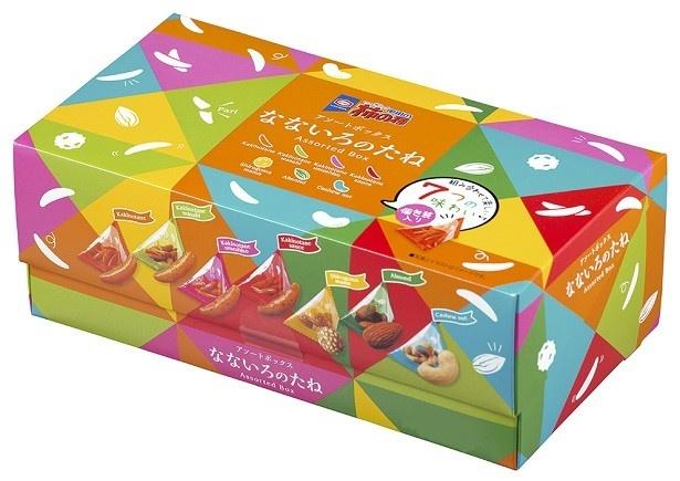 10月3日(月)から期間限定で販売される「亀田の柿の種 なないろのたね ボックス」