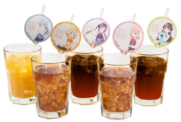 インターネットでの事前予約の特典として、キャラクター紙タグ付きアイスコーヒー1杯プレゼント