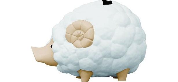 F賞「プーギーソフビ貯金箱」の、眠りを誘う白バージョン