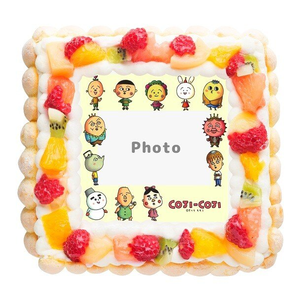 キャラクターのフレームに好きな写真をカスタマイズできるキャラフレームケーキ