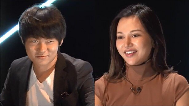 人気企画「あいつだけは絶対に許さない」の第3弾に登場する村本大輔、水沢アリー(写真左から)