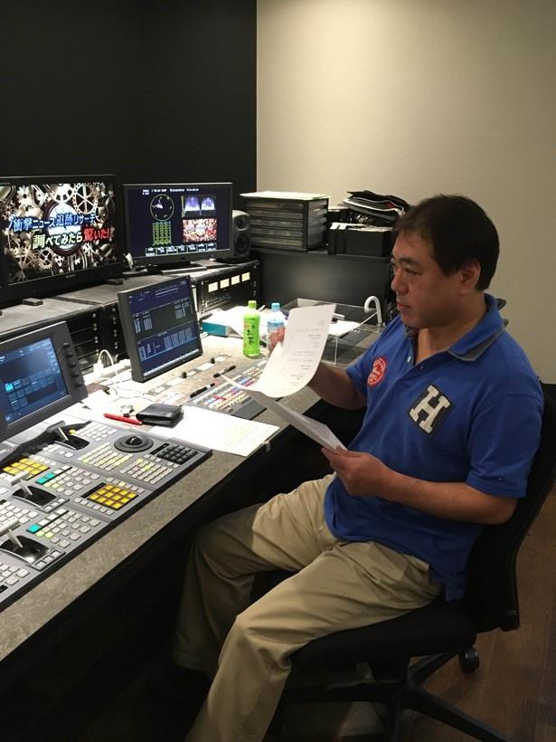 インタビューに応じる、同番組を企画・制作した武澤忠ディレクター