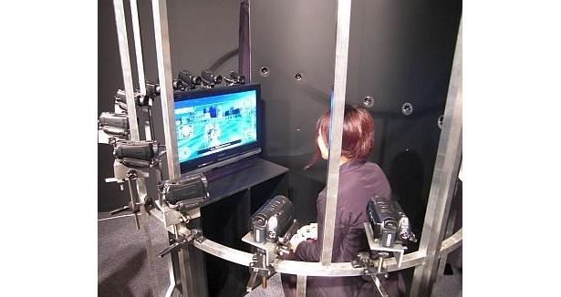 発表会で展示された、playface撮影スペース
