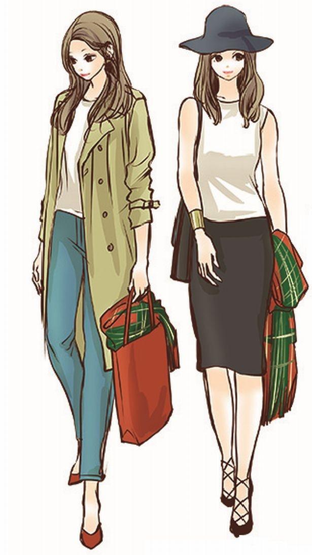 【写真を見る】羽織るだけでなく、手に持ったりバッグにかけて差し色にするという上級者テクもマスターしたい