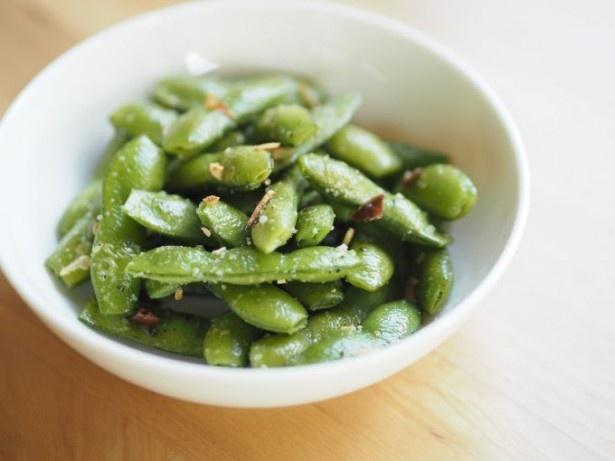 くせになる美味しさ!「枝豆ペペロンチーノ」(P.141)