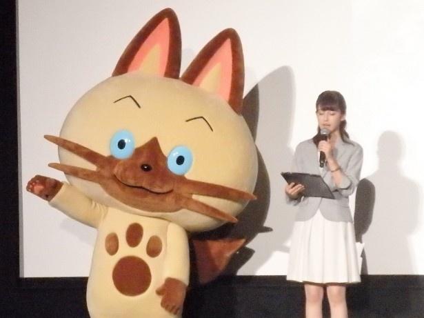 フジテレビ系にて放送される新アニメ「モンスターハンター ストーリーズ RIDE ON」の先行試写会が行われた